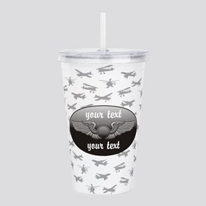 Personalized Aviation Acrylic Double-wall Tumbler