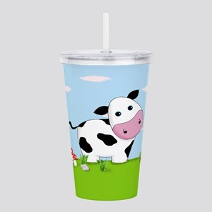 Cow in a Field Acrylic Double-wall Tumbler