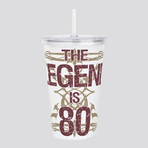 Men's Funny 80th Birth Acrylic Double-wall Tumbler