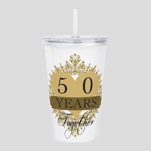 50th Wedding Anniversa Acrylic Double-wall Tumbler