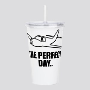 flying airplane Acrylic Double-wall Tumbler