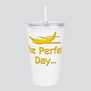 pilot airplane flying Acrylic Double-wall Tumbler