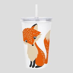 Cute Red Fox Cartoon I Acrylic Double-wall Tumbler