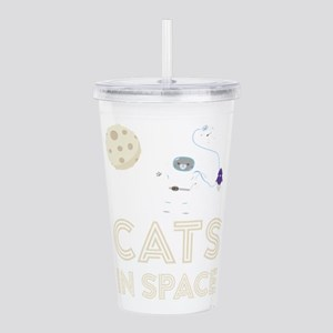 Cats in Space Ctfb7 Acrylic Double-wall Tumbler