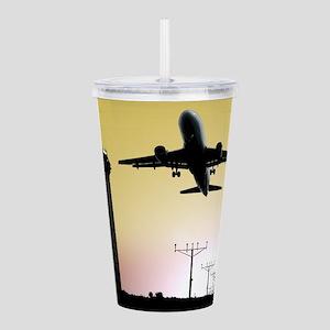 ATC: Air Traffic Control Tower & Plane Acrylic Dou
