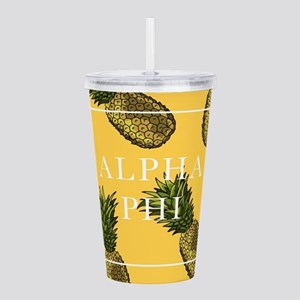 Alpha Phi Pineapples Acrylic Double-wall Tumbler