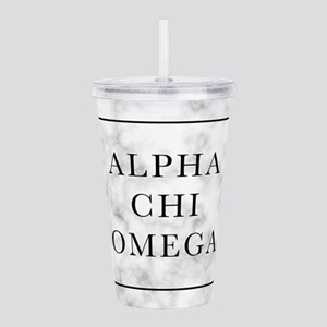 Alpha Chi Omega Marble Acrylic Double-wall Tumbler