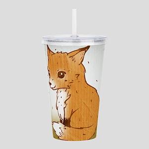Cute Little Fox Acrylic Double-wall Tumbler