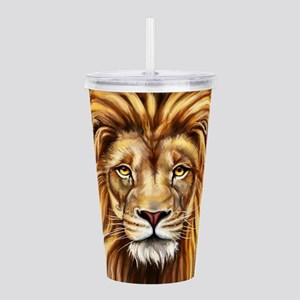 Artistic Lion Face Acrylic Double-wall Tumbler