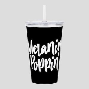 Melanin Poppin Acrylic Double-wall Tumbler