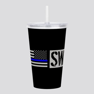 Police: SWAT (Black Fl Acrylic Double-wall Tumbler