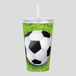 Ball On Grass Acrylic Double-wall Tumbler