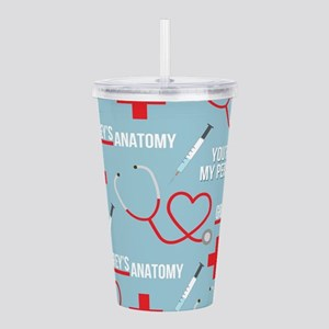 Grey's Anatomy Pattern Acrylic Double-wall Tumbler