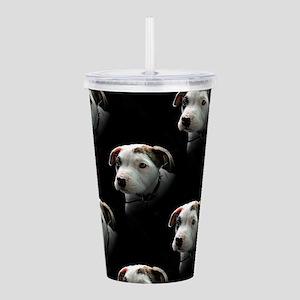 Pit Bull T-Bone Puppy Acrylic Double-wall Tumbler