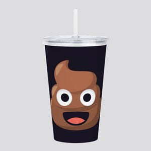 Poop Emoji Acrylic Double-wall Tumbler