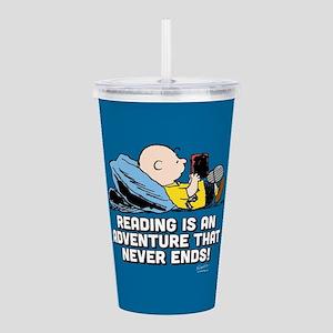 Charlie Brown - Readin Acrylic Double-wall Tumbler