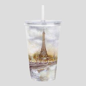 Eiffel Tower Painting Acrylic Double-wall Tumbler
