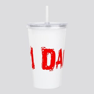 #1 Dad in Red Acrylic Double-wall Tumbler
