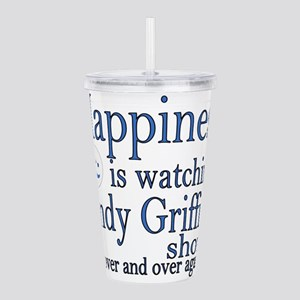Happiness is watching Acrylic Double-wall Tumbler