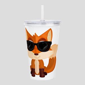 Cool Fox Acrylic Double-wall Tumbler