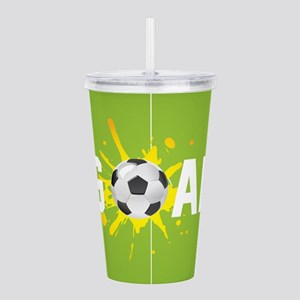 Football Ball And Field Acrylic Double-wall Tumble
