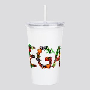 Vegan Vegetables Acrylic Double-wall Tumbler