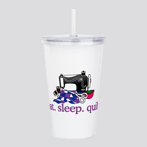 Quilt (Machine) Acrylic Double-wall Tumbler