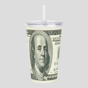 One Hundred Dollar Bill Acrylic Double-wall Tumble
