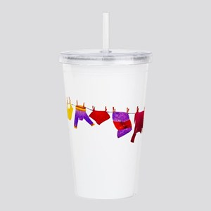 Kids clothes drying Acrylic Double-wall Tumbler