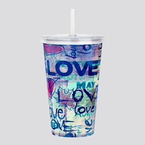 Abstract Love Painting Acrylic Double-wall Tumbler