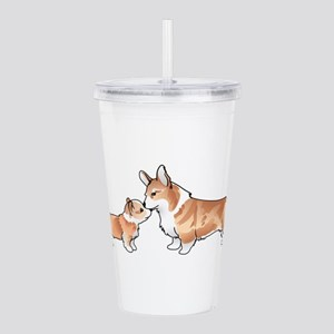 CORGI ADULT AND PUP Acrylic Double-wall Tumbler