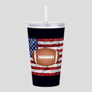 Football on american f Acrylic Double-wall Tumbler