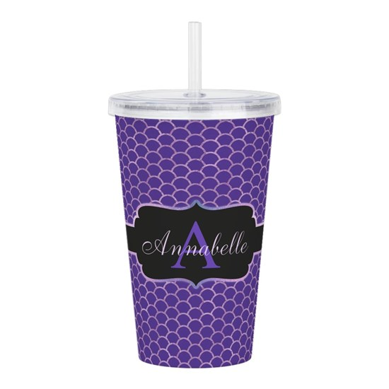 Purple Mermaid Scale Monogram