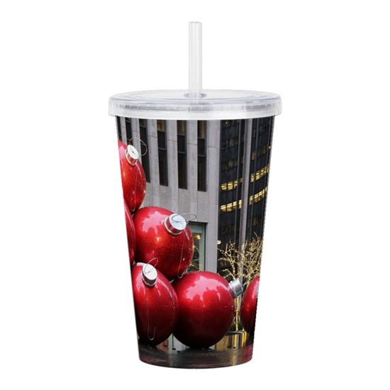 Christmas Ball Ornamen Acrylic Double-wall Tumbler