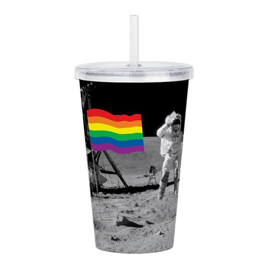 GAY PRIDE FLAG ON THE MOON  THAT'S ONE HUGE STEP F