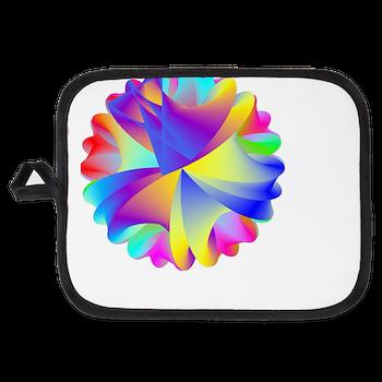 Rainbow Cluster Potholder