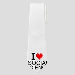 I Love Social Sciences Neck Tie