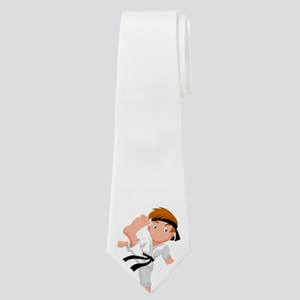 PERSONALIZED KARATE BOY Neck Tie
