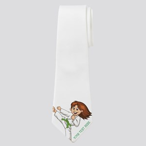 PERSONALIZED KARATE GIRL Neck Tie