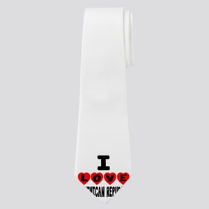 I Love Dominican Republic Neck Tie