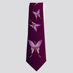 Big Purple Butterfly Trans Neck Tie