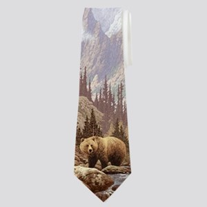 Grizzly Bear Landscape Neck Tie