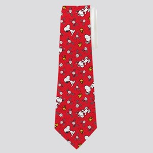 Snoopy And Woodstock Dancing Neck Tie