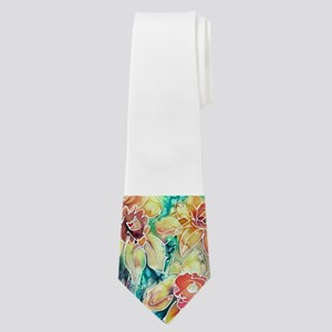 Daffodils! Spring flower art! Neck Tie