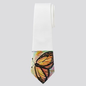 Orange Monarch Butterfly! Nature art! Neck Tie