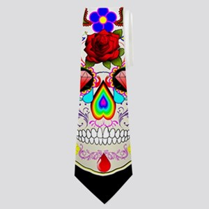 mexican sugar skull Neck Tie
