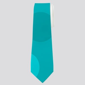 Cyan Light Dark Modern Dots Blue Backgrou Neck Tie
