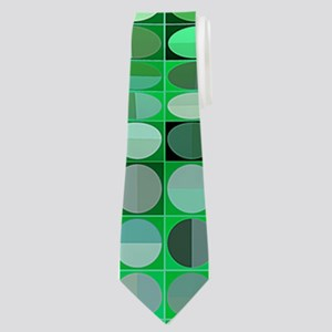 Optical Illusion Sphere - Green Neck Tie