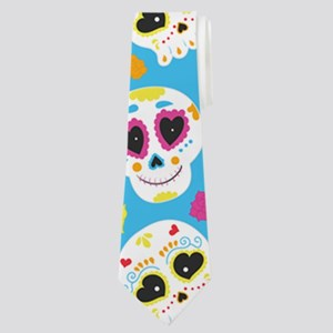 Sugar Skull Pattern Neck Tie