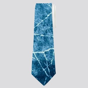 Artistic abstract crack marble grungy Neck Tie